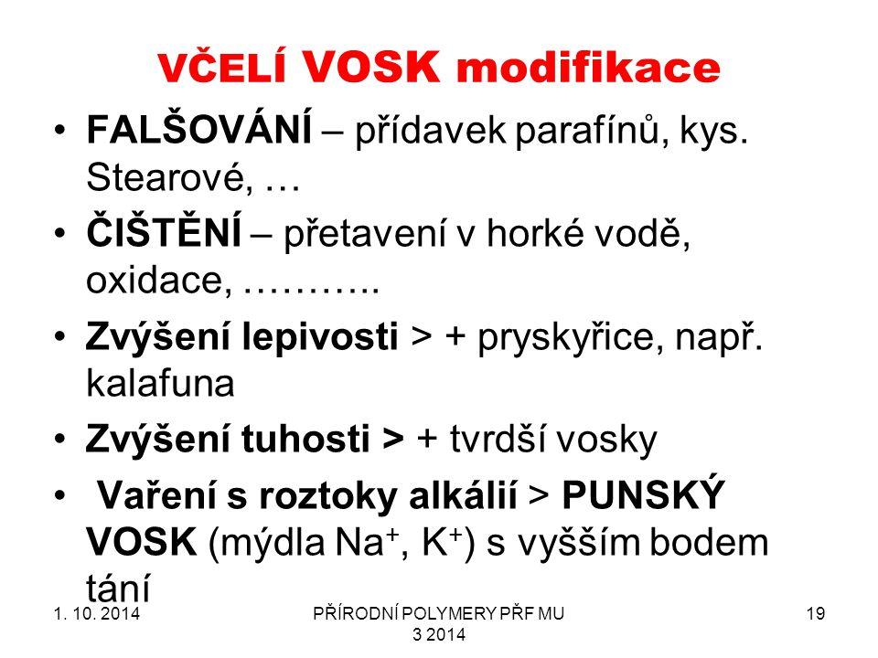 VČELÍ VOSK modifikace 1.10.