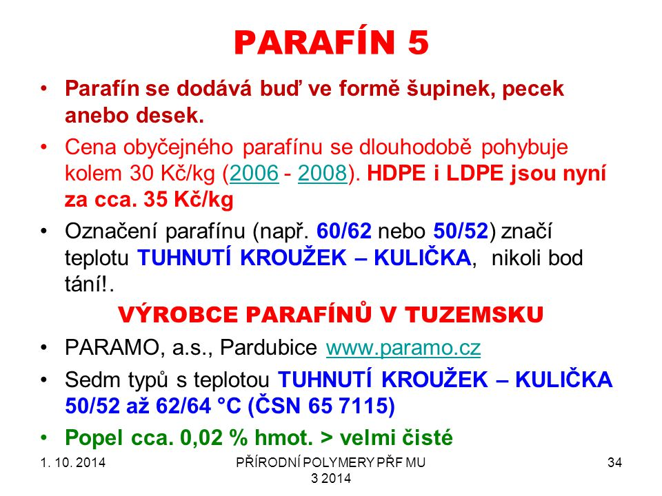 PARAFÍN 5 1.10.