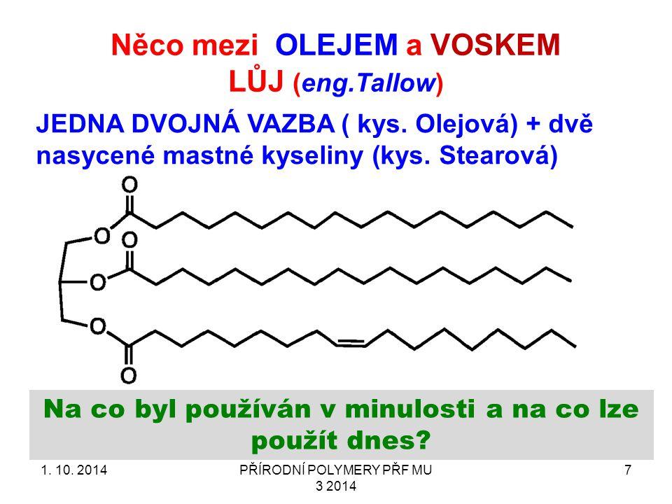 Něco mezi OLEJEM a VOSKEM LŮJ (eng.Tallow) 1.10.