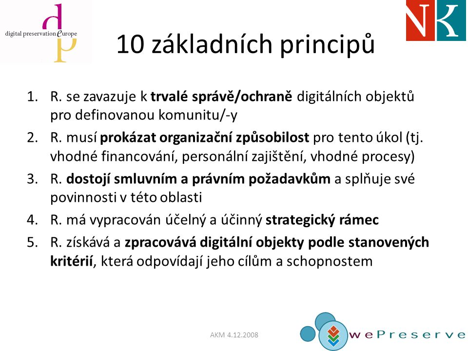 10 základních principů 1.R.