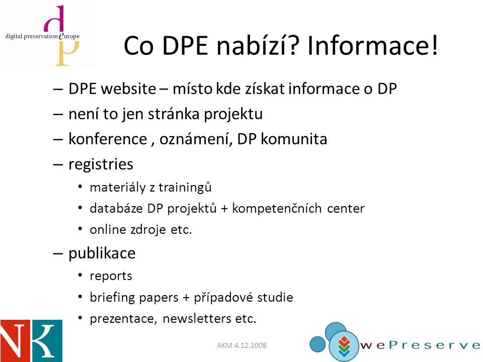 Co DPE nabízí. Informace.
