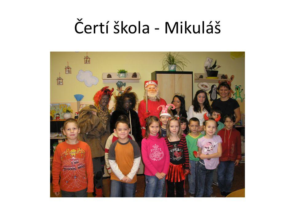 Čertí škola Na 5.prosince 2011 jsme si měli do školy přinést čertí masky.