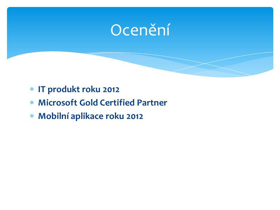  IT produkt roku 2012  Microsoft Gold Certified Partner  Mobilní aplikace roku 2012 Ocenění