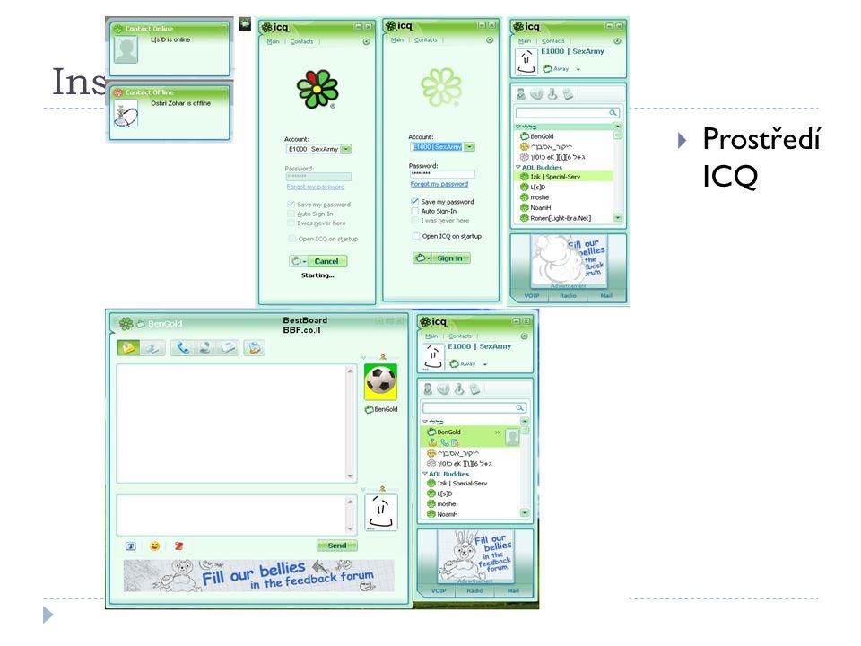 Instant  Prostředí ICQ
