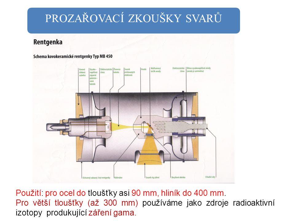PROZAŘOVACÍ ZKOUŠKY SVARŮ Na prozařovaný svar upevníme RTG film, olověná čísla pro orientaci svaru a drátěné měrky.