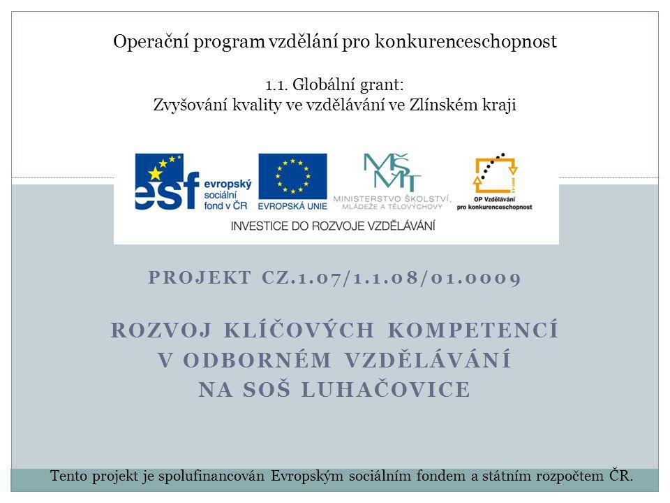 Operační program vzdělání pro konkurenceschopnost 1.1.