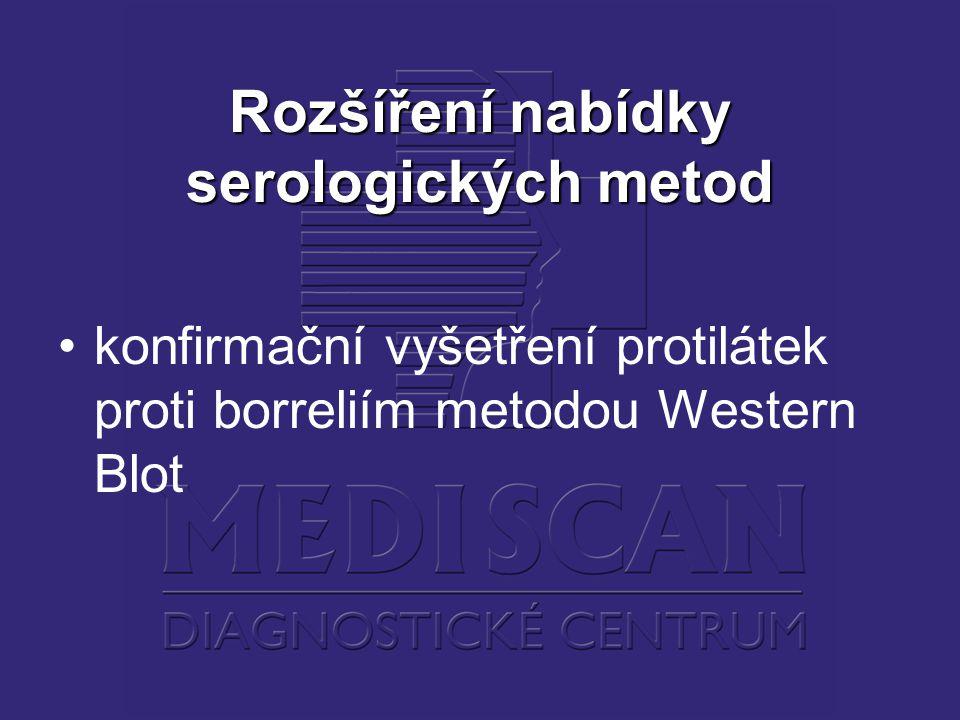 Rozšíření nabídky serologických metod konfirmační vyšetření protilátek proti borreliím metodou Western Blot
