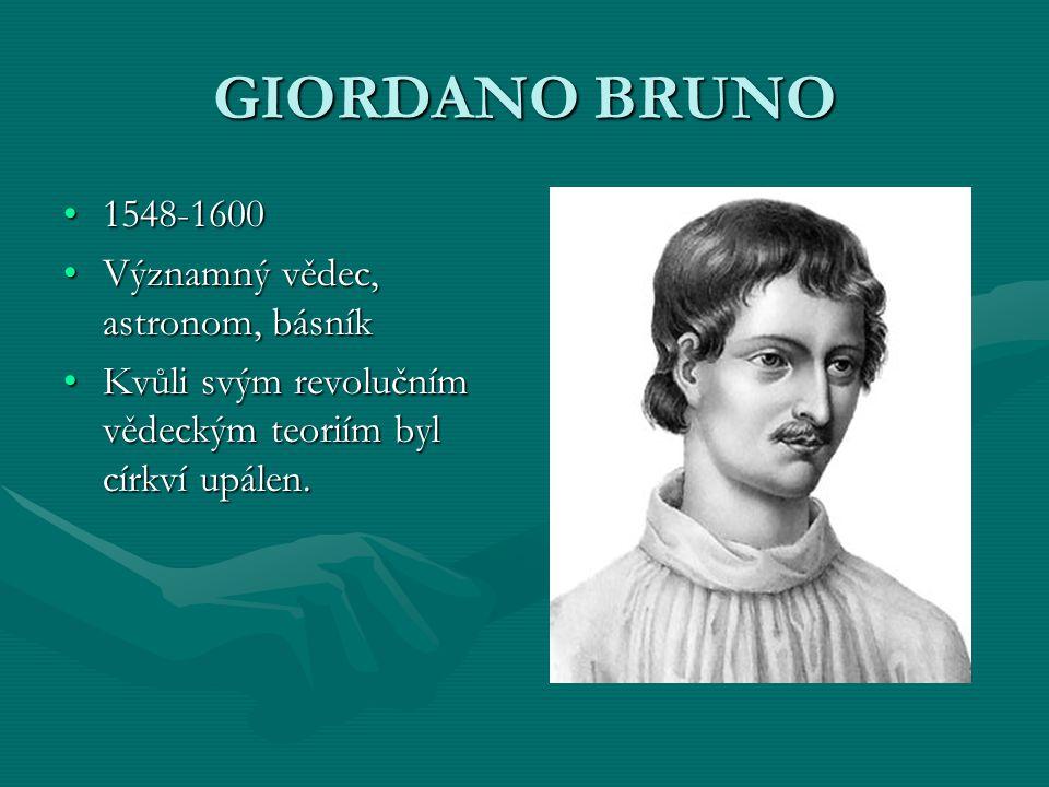 GIORDANO BRUNO Proces s Brunem