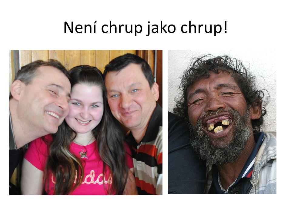 Stavba zubu Zubovina Zubní vzorec: Horní řada: 2 řezáky, 1 špičák, 2 třenové zuby, 3 stoličky Dolní řada: 2 řezáky, 1 špičák, 2 třenové zuby, 3 stoličky Trvalý chrup má 32 zubů a mléčný chrup má 20 zubů!