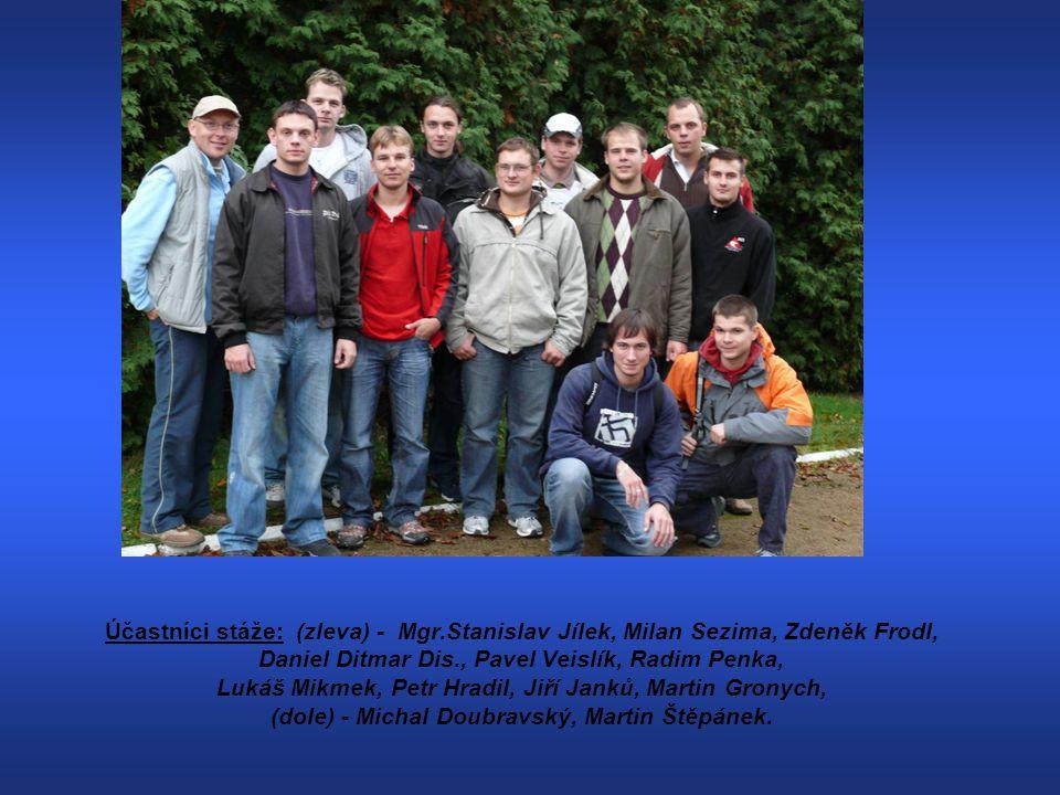 Účastníci stáže: (zleva) - Mgr.Stanislav Jílek, Milan Sezima, Zdeněk Frodl, Daniel Ditmar Dis., Pavel Veislík, Radim Penka, Lukáš Mikmek, Petr Hradil,
