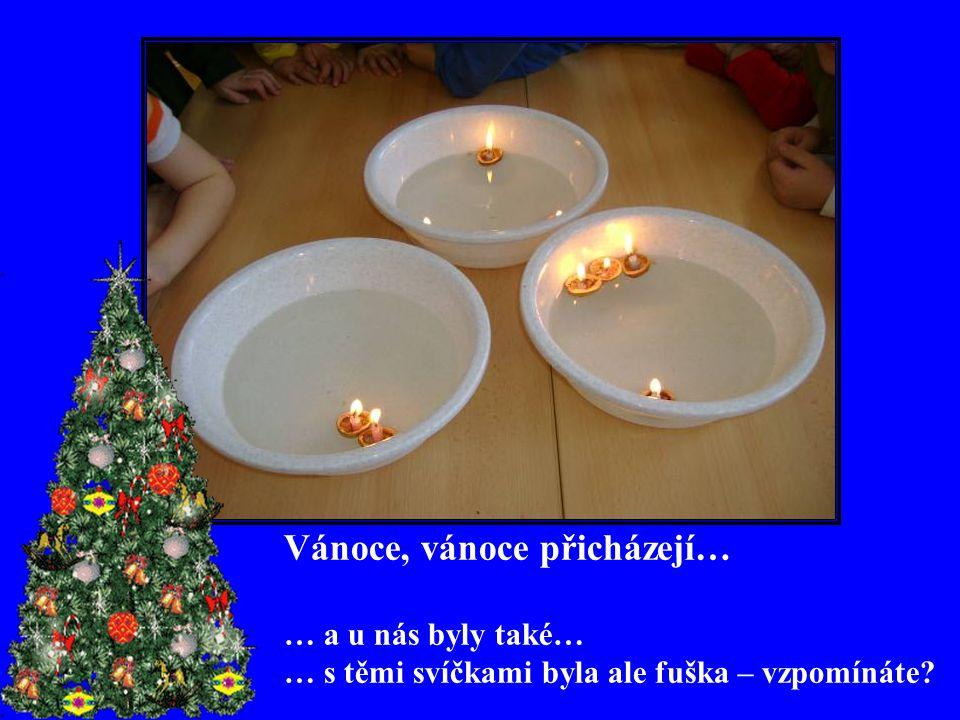 Vánoce, vánoce přicházejí… … a u nás byly také… … s těmi svíčkami byla ale fuška – vzpomínáte?