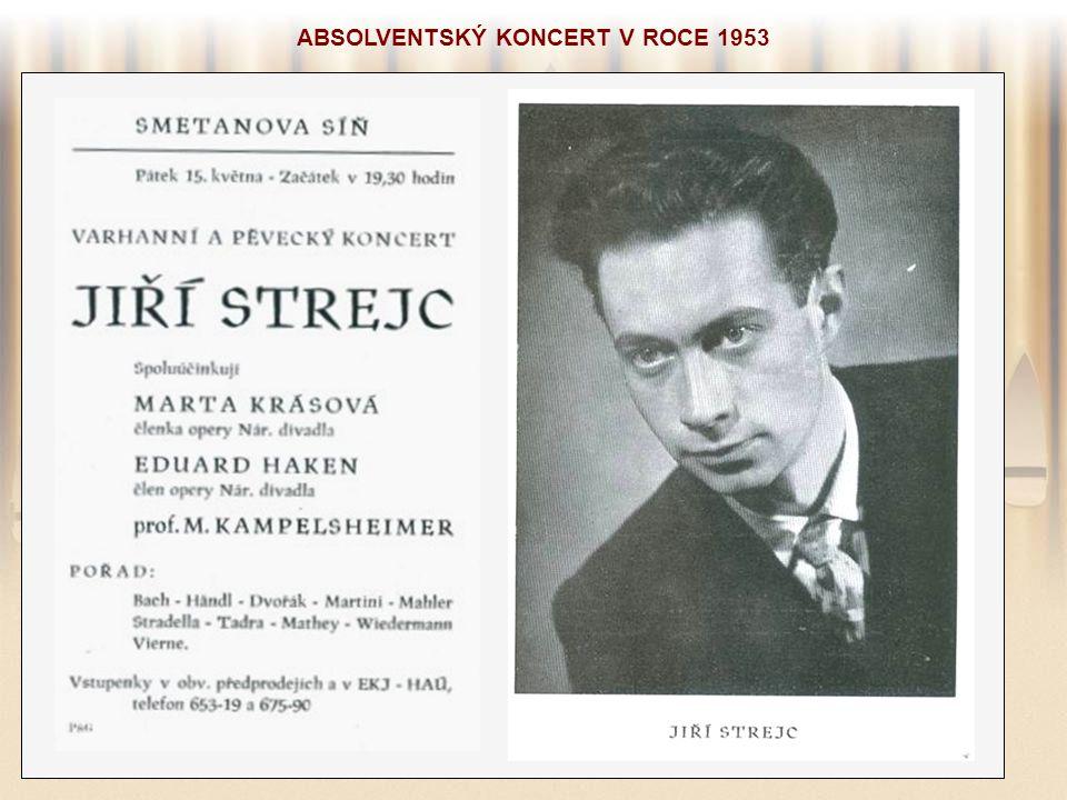 ABSOLVENTSKÝ KONCERT V ROCE 1953