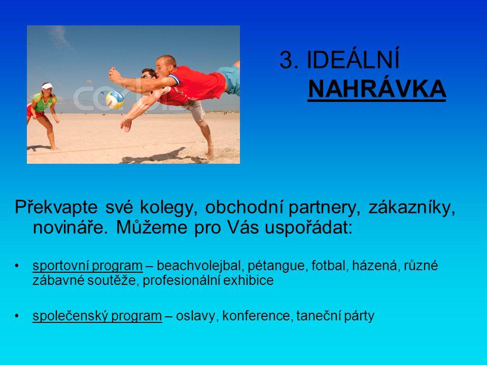 3. IDEÁLNÍ NAHRÁVKA Překvapte své kolegy, obchodní partnery, zákazníky, novináře.