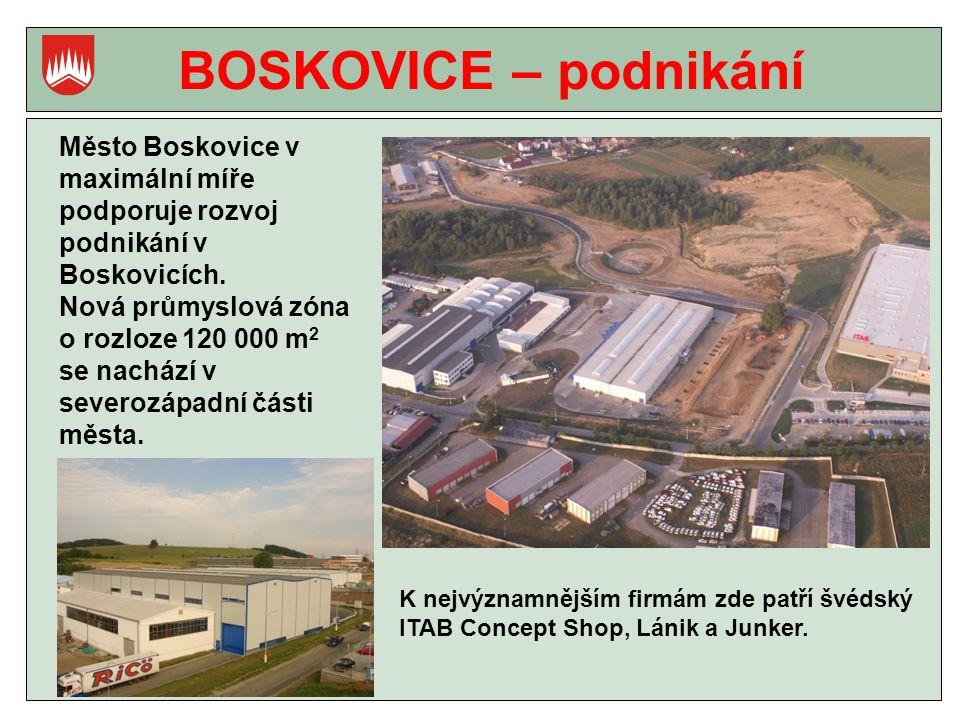 BOSKOVICE – podnikání Město Boskovice v maximální míře podporuje rozvoj podnikání v Boskovicích.