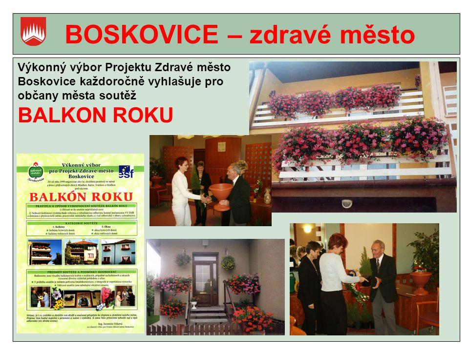 BOSKOVICE – zdravé město Výkonný výbor Projektu Zdravé město Boskovice každoročně vyhlašuje pro občany města soutěž BALKON ROKU
