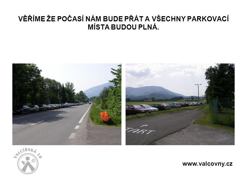 VĚŘÍME ŽE POČASÍ NÁM BUDE PŘÁT A VŠECHNY PARKOVACÍ MÍSTA BUDOU PLNÁ. www.valcovny.cz