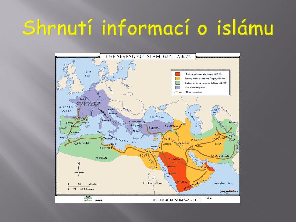  Šíření v prvním období z Arabského poloostrova na sever - východní Středomoří (tzv. Blízký východ), Persie (dnes Írán), Turecko, na západ – sever Af