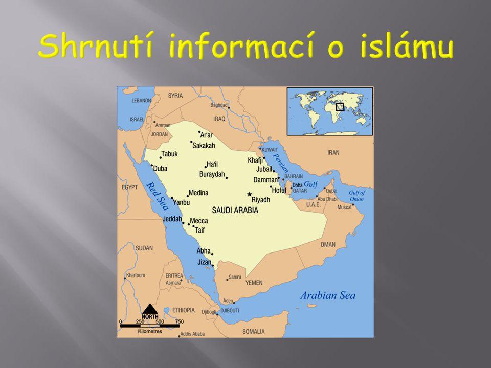  Arabský poloostrov v době Muhammadova života, včetně Mekky, kde bydlel, měl vlastní polyteistické náboženství. Obyvatelé byli, např. při obchodních