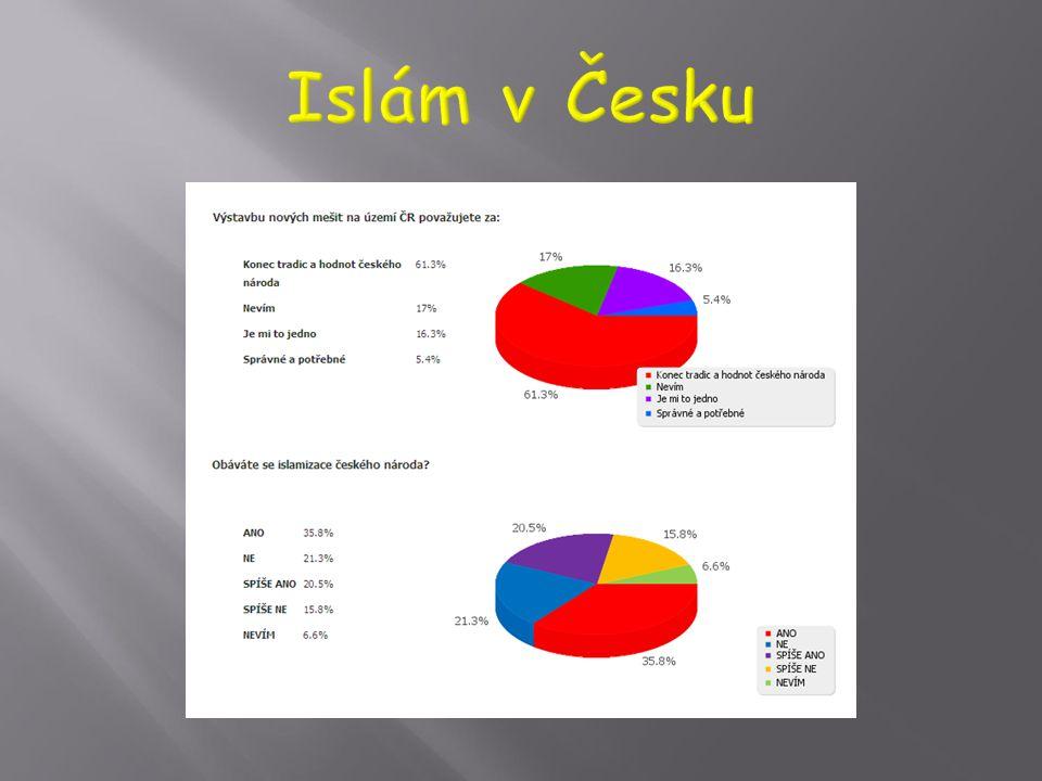  Při sčítání lidu 2011:  0.15 % členů Ústředí muslimských obcí  0.15 % ostatních muslimů