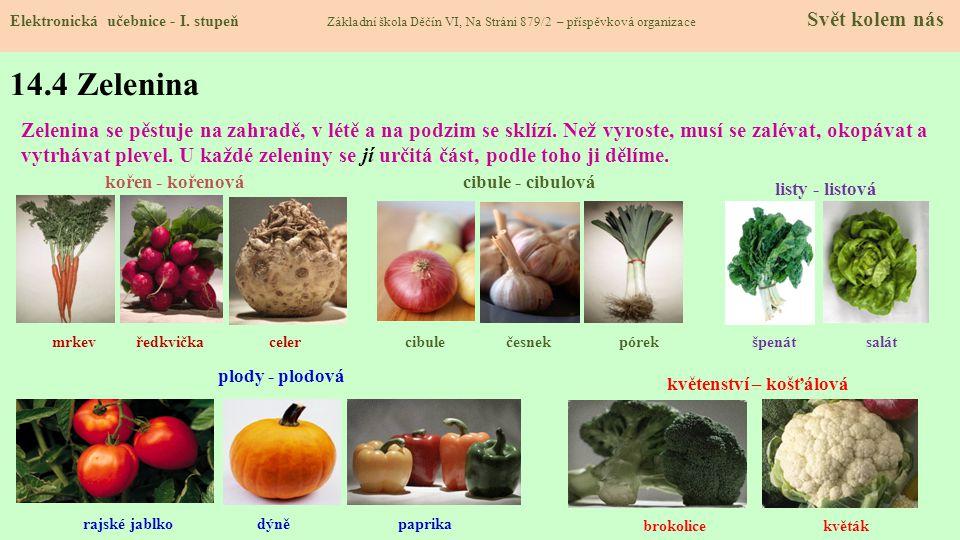 14.3 Ovoce Elektronická učebnice - I.