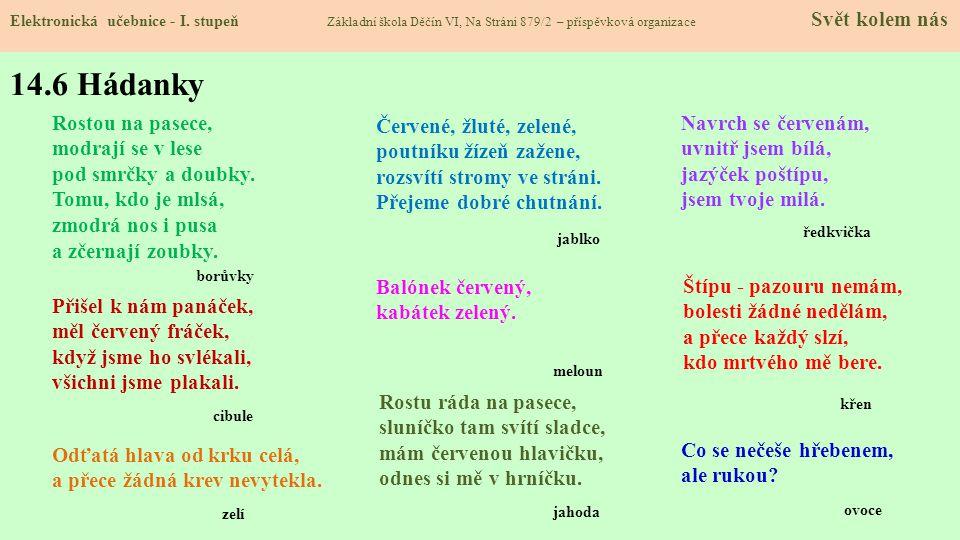 14.6 Hádanky Elektronická učebnice - I.