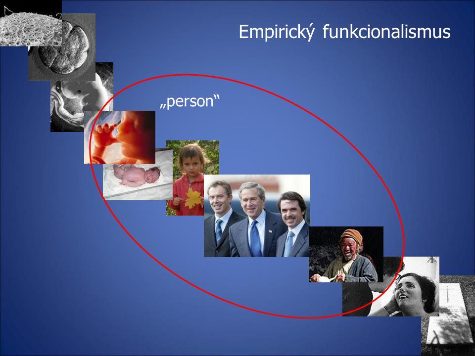 "Empirický funkcionalismus ""person"""