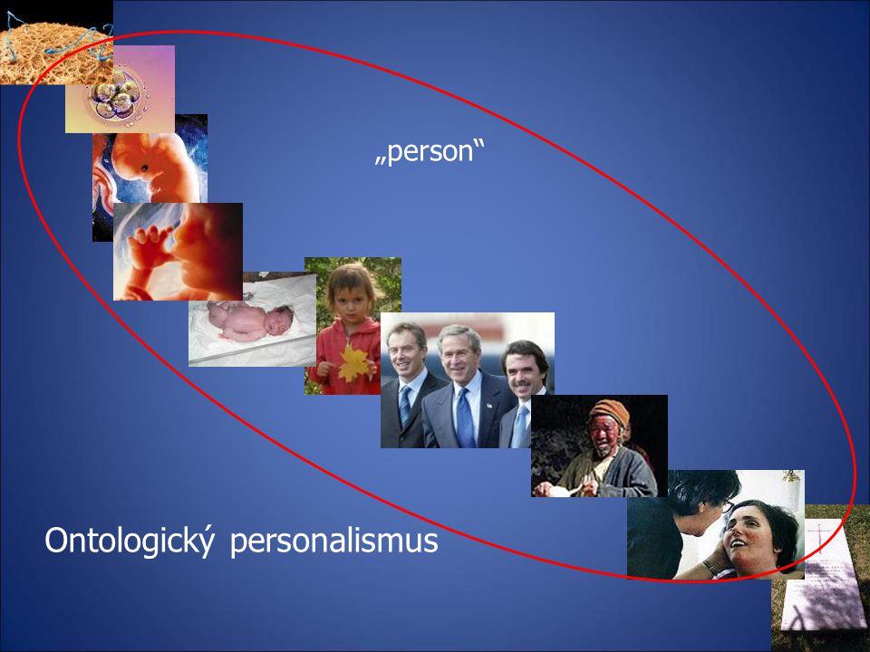 Ontologický personalismus není rozdíl mezi lidskou bytostí a osobou.