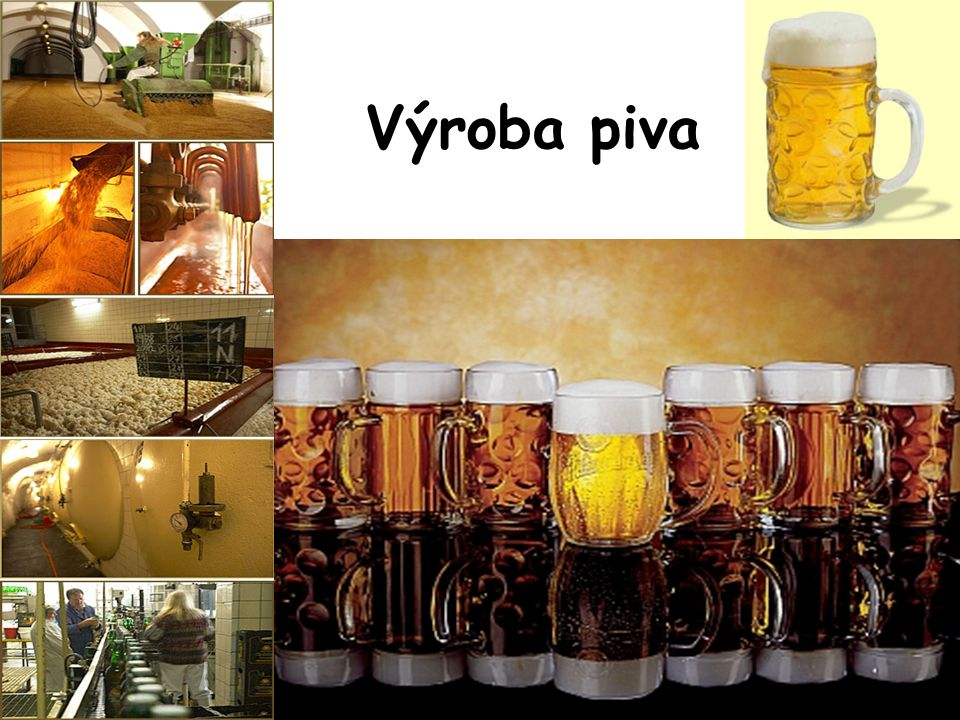 Základní suroviny pro výrobu piva voda, slad a chmel voda je tělo, slad je duše a chmel koření piva