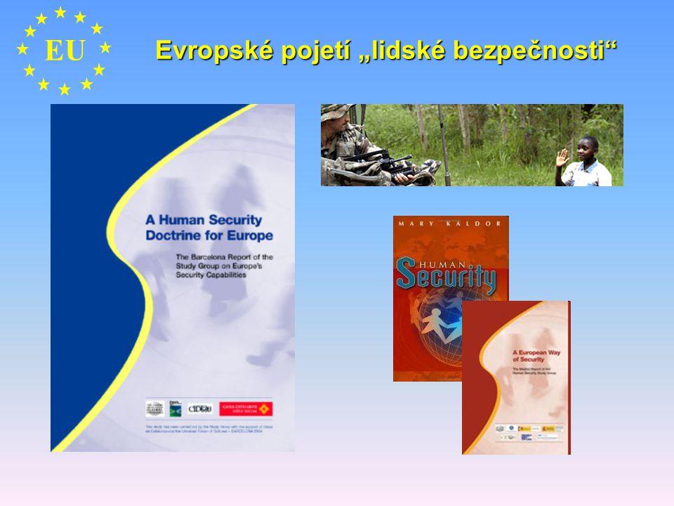 """Evropské pojetí """"lidské bezpečnosti"""" EU"""