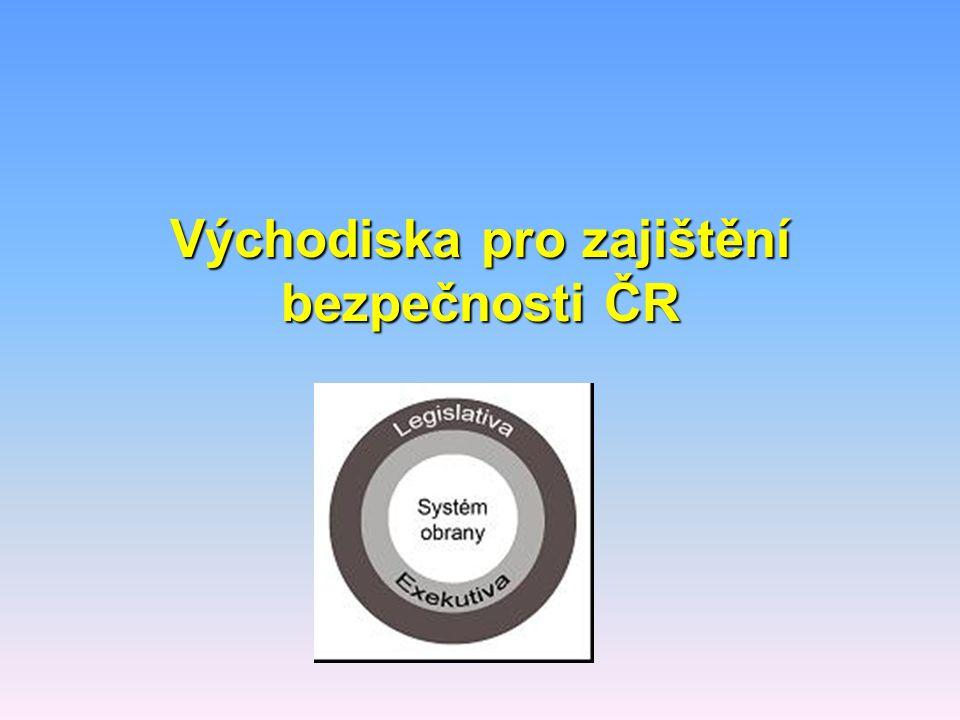 Východiska pro zajištění bezpečnosti ČR