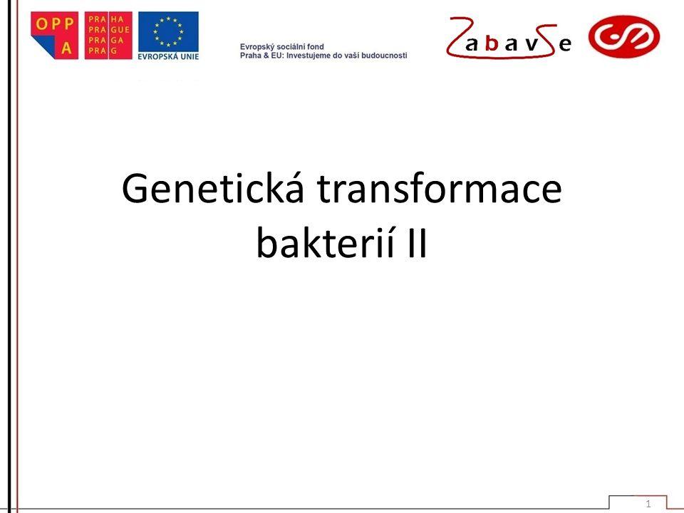 Genetická transformace bakterií II 1