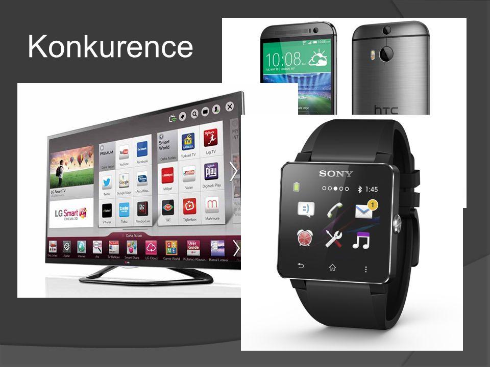 Konkurence  Největším konkurentem v oblasti smartphonů je HTC  V oblasti prodeje Smart TV nejvíce konkuruje LG  V prodeji Smartwatches se dělí o pr