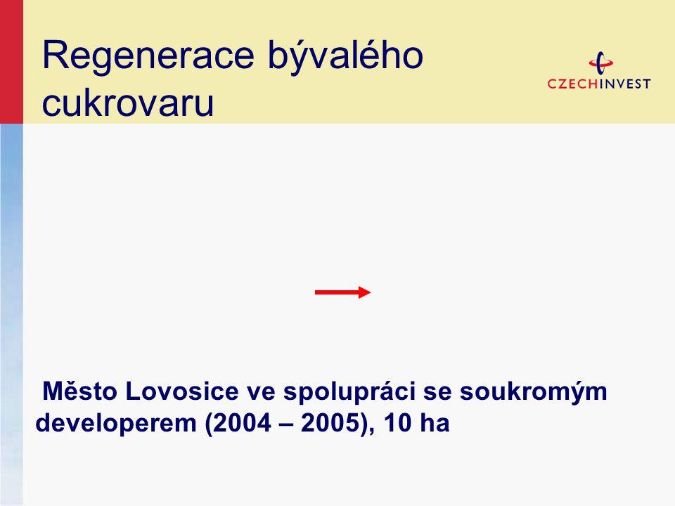 Regenerace bývalého cukrovaru Město Lovosice ve spolupráci se soukromým developerem (2004 – 2005), 10 ha