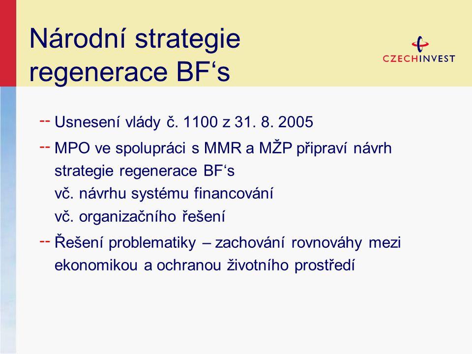 Národní strategie regenerace BF's ╌ Usnesení vlády č.