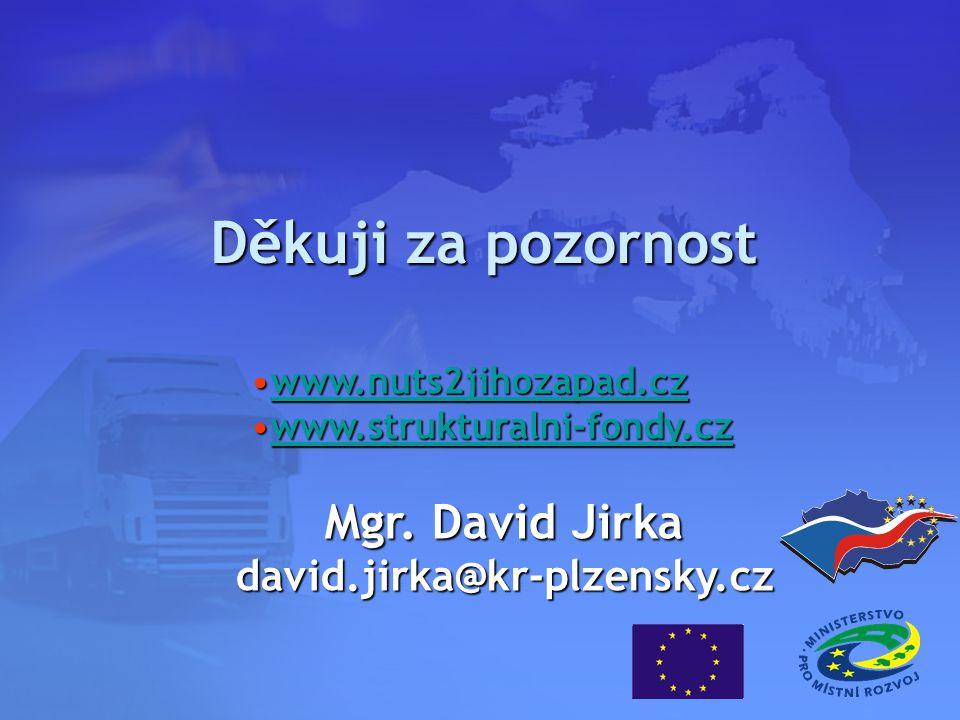 Děkuji za pozornost www.nuts2jihozapad.czwww.nuts2jihozapad.czwww.nuts2jihozapad.cz www.strukturalni-fondy.czwww.strukturalni-fondy.czwww.strukturalni-fondy.cz Mgr.