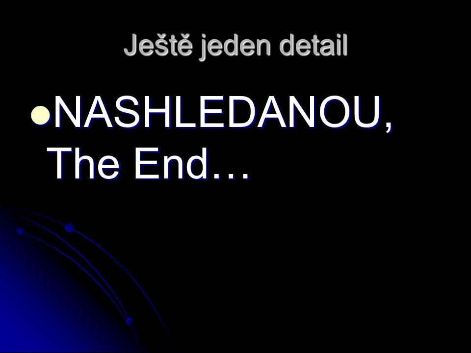 Ještě jeden detail NASHLEDANOU, The End… NASHLEDANOU, The End…