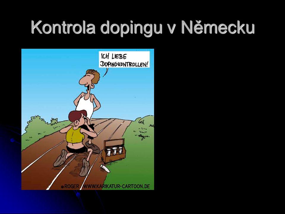Kontrola dopingu v Německu