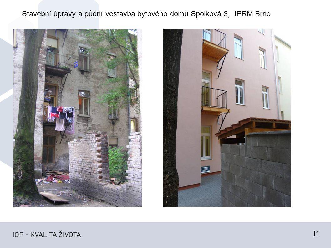 11 Stavební úpravy a půdní vestavba bytového domu Spolková 3, IPRM Brno