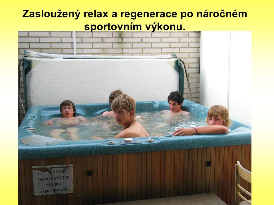 Zasloužený relax a regenerace po náročném sportovním výkonu.