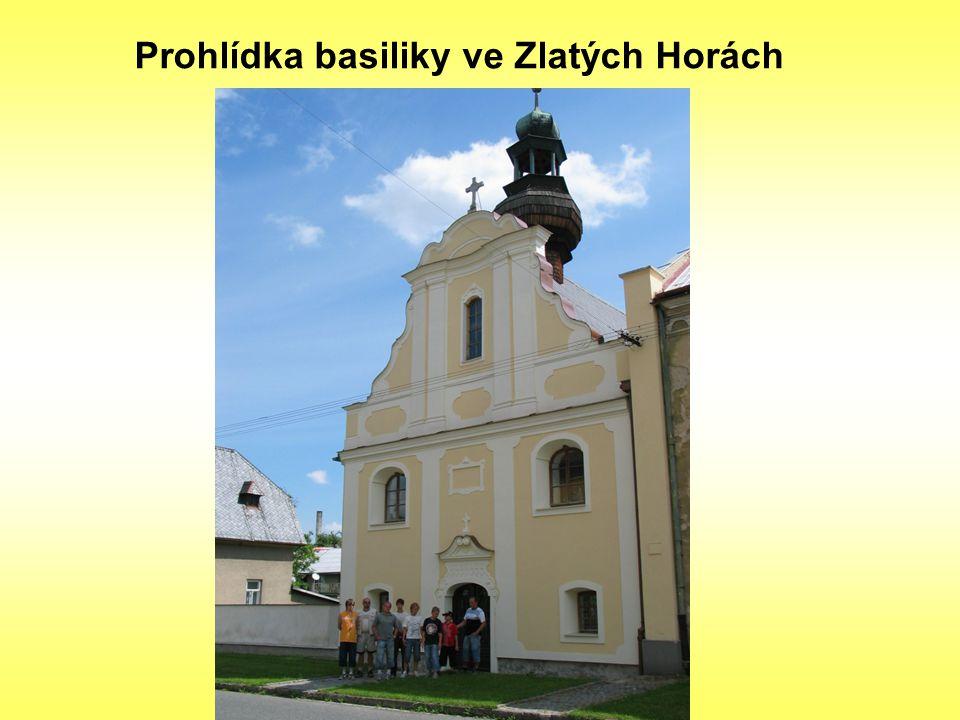 Prohlídka basiliky ve Zlatých Horách