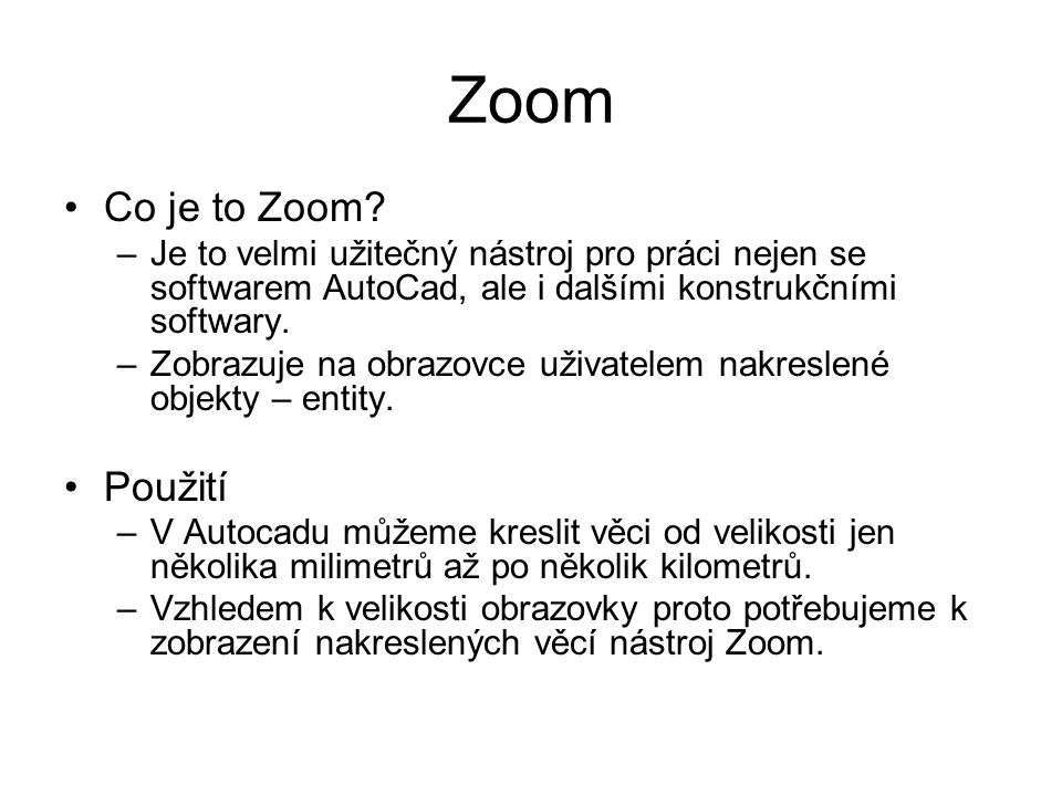 Zoom Co je to Zoom.