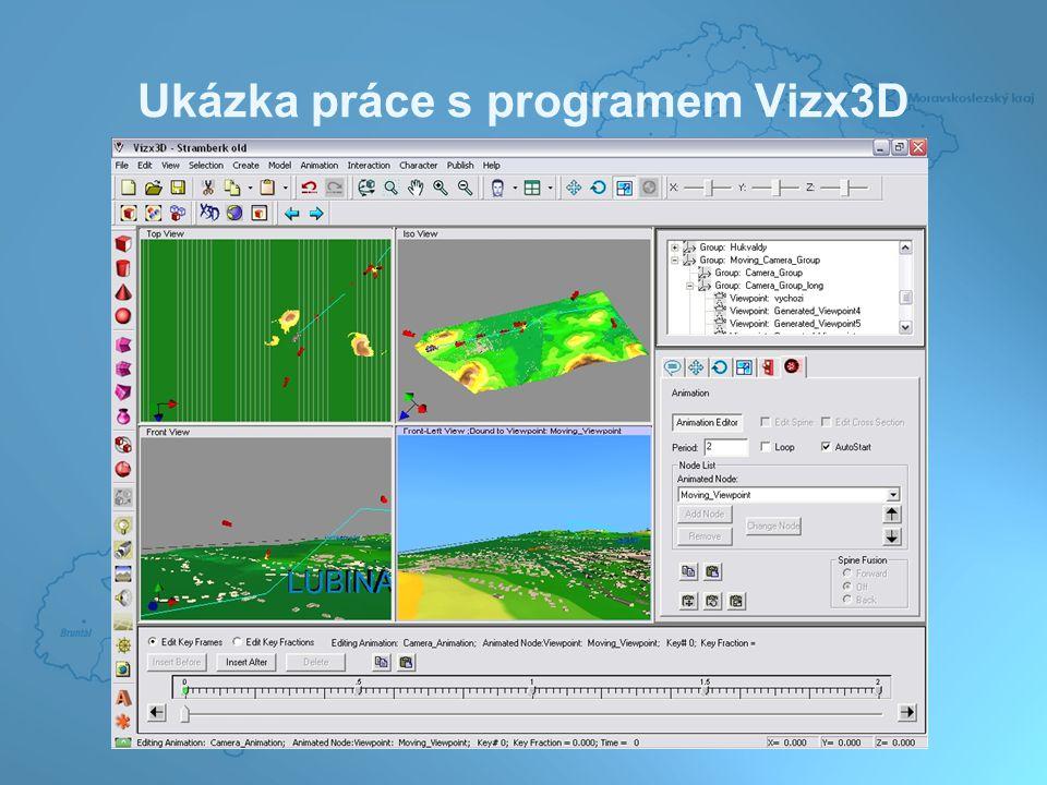 Ukázka práce s programem Vizx3D