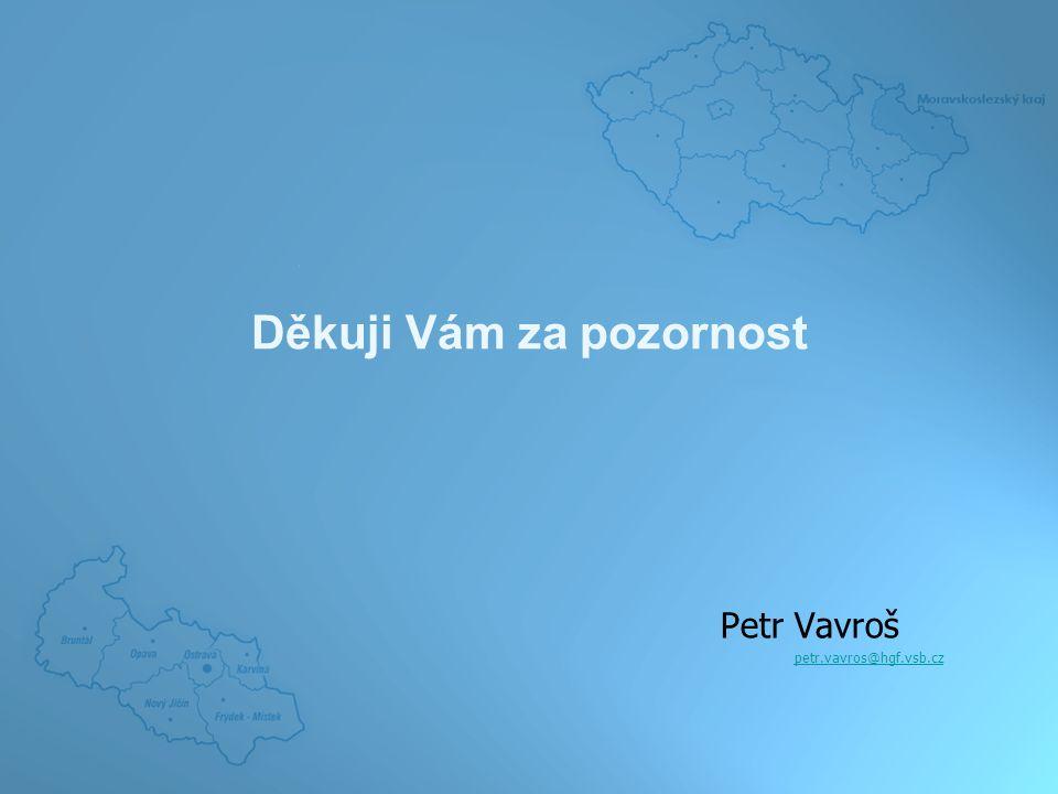 Děkuji Vám za pozornost Petr Vavroš petr.vavros@hgf.vsb.cz