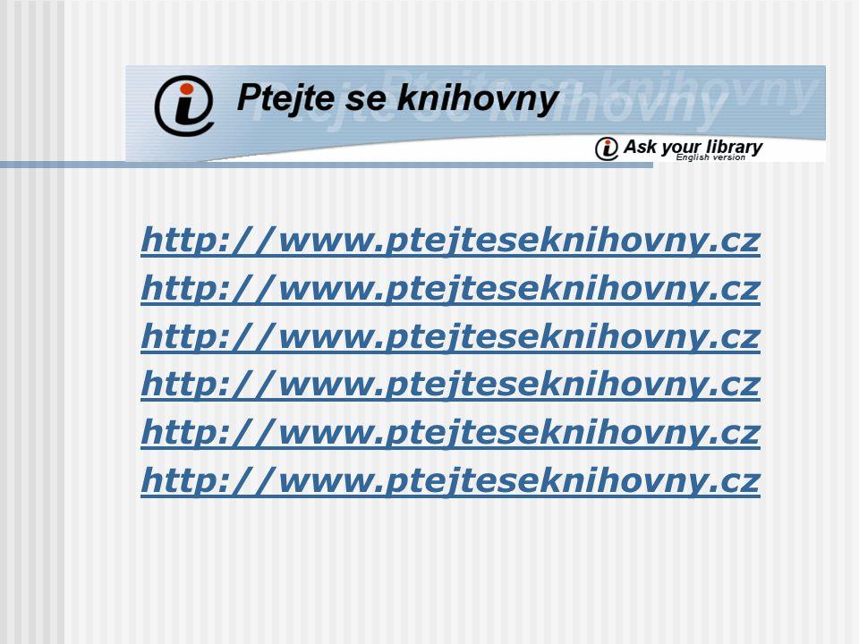 http://www.ptejteseknihovny.cz