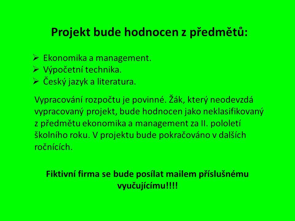 Ekonomika a management.  Výpočetní technika.  Český jazyk a literatura.