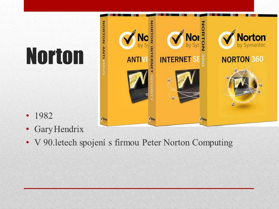Norton 1982 GaryHendrix V 90.letech spojení s firmou Peter Norton Computing