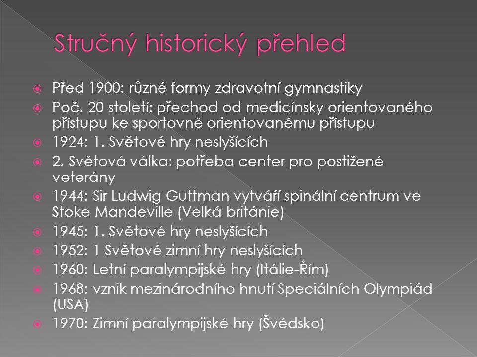 Před 1900: různé formy zdravotní gymnastiky  Poč.