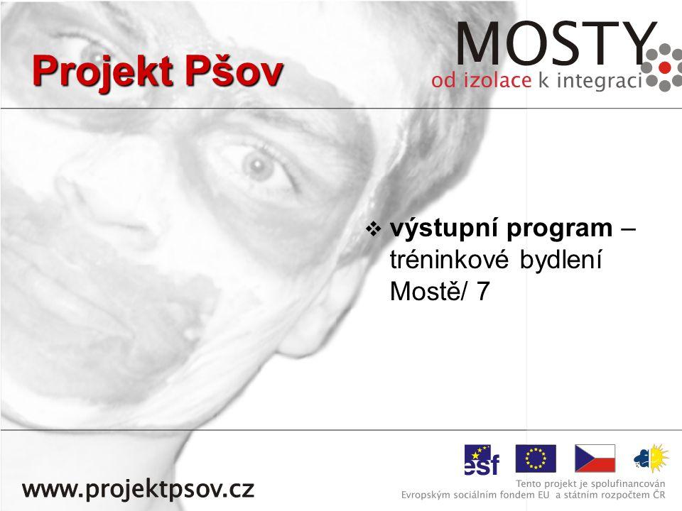   výstupní program – tréninkové bydlení Mostě/ 7 Projekt Pšov