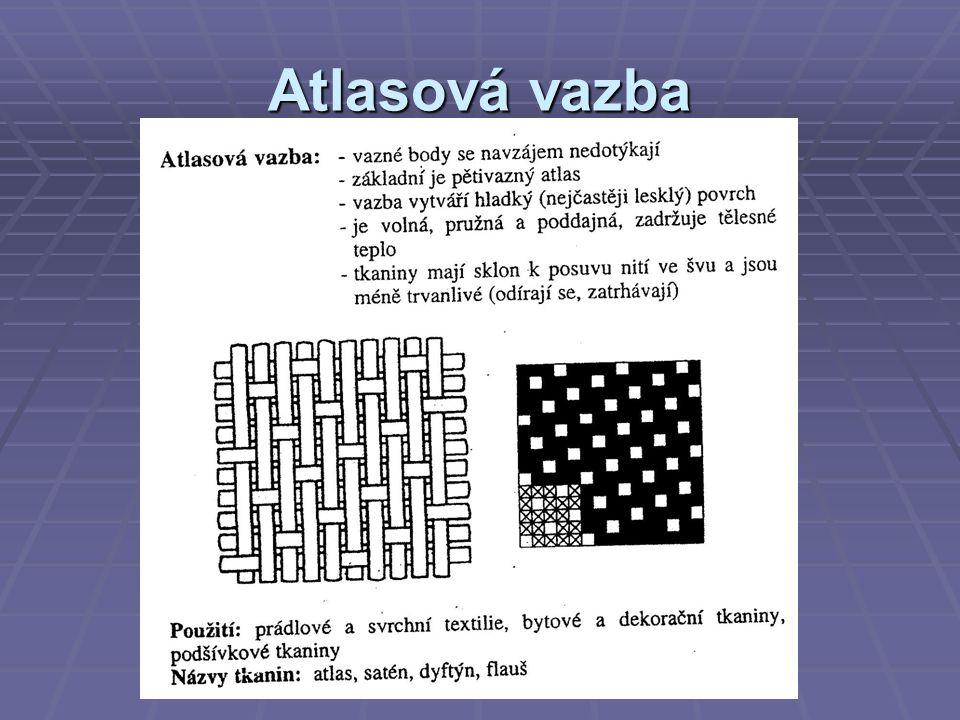 Pleteniny  Pleteniny jsou tvořeny jednou soustavou nití, které jsou uloženy vodorovně nebo svisle.