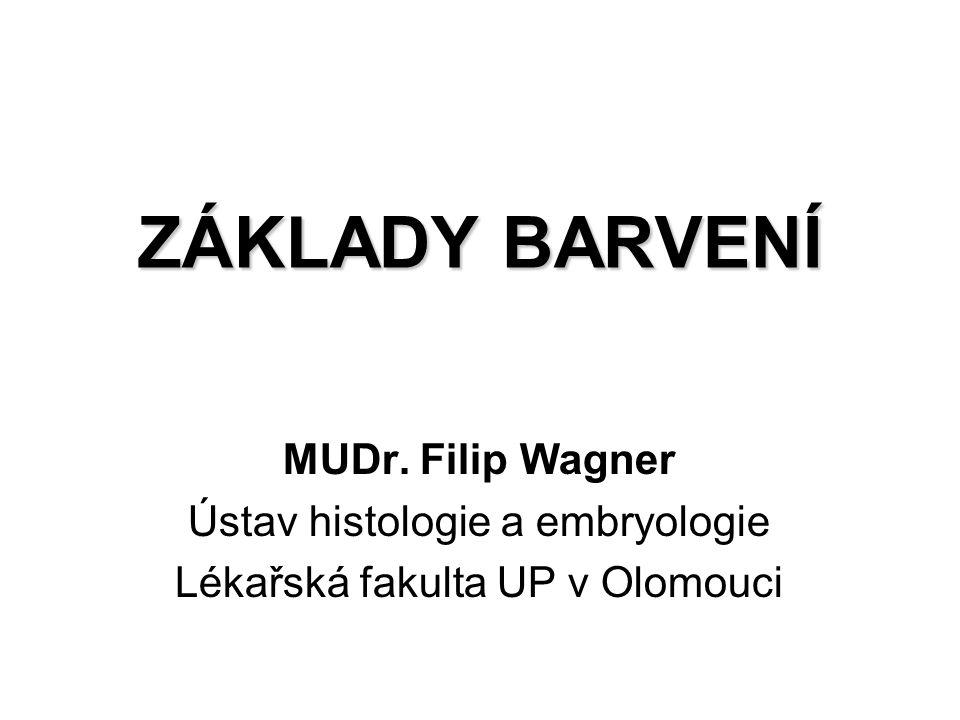 ZÁKLADY BARVENÍ MUDr. Filip Wagner Ústav histologie a embryologie Lékařská fakulta UP v Olomouci